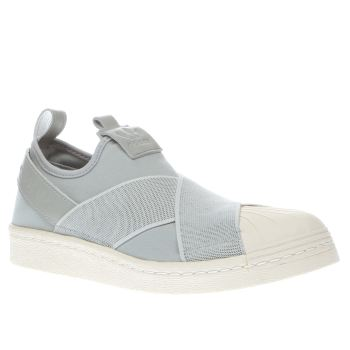 Adidas Grey Superstar Slip On Trainers