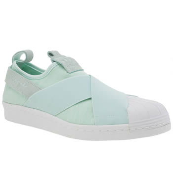 Adidas Light Green Superstar Slip On Womens Trainers