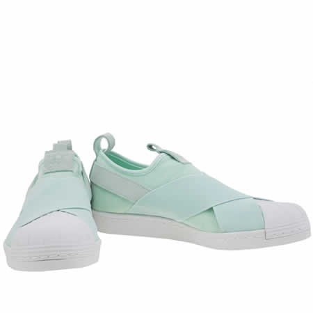 adidas superstar slip on Green