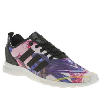 Adidas Purple Zx Flux Smooth Trainers