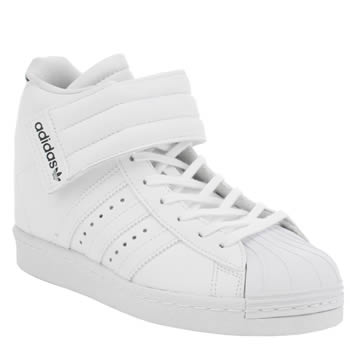 Adidas White & Black Superstar Up Strap Trainers