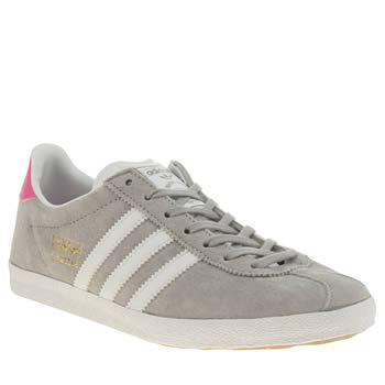 Womens Adidas Grey Gazelle Og Trainers
