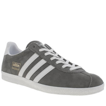 Womens Adidas Dark Grey Gazelle Og Trainers