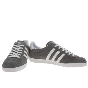 Womens Adidas Dark Grey Gazelle Og Suede Trainers