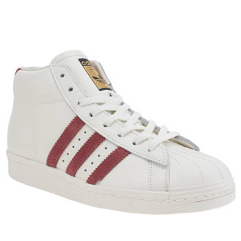 Adidas White & Red Pro Model Vintage Deluxe Trainers