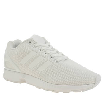 Adidas White Zx Flux Trainers