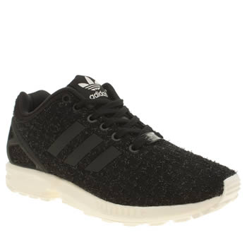 Adidas Black & White Zx Flux Trainers