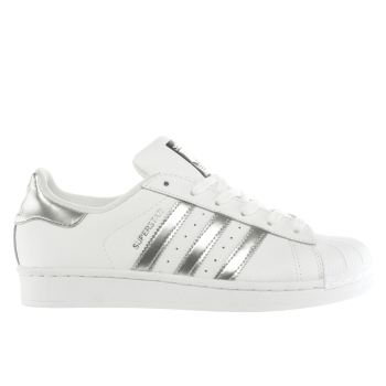 Adidas White & Silver Superstar Womens Trainers