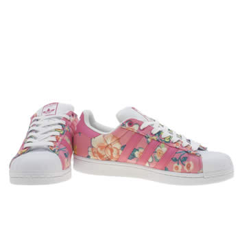 Adidas Superstar Womens White And Pink