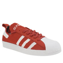 Adidas Red Superstar 80s Primeknit Trainers