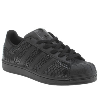 Adidas Black Superstar Snake Trainers