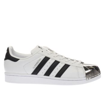 Adidas White Superstar 80S Metal Toe Womens Trainers