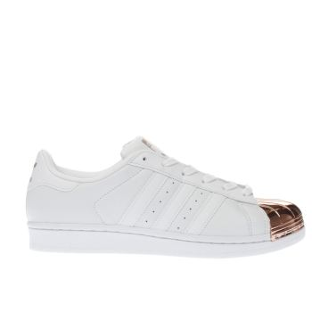Adidas White & Gold SUPERSTAR 80S METAL TOE Trainers