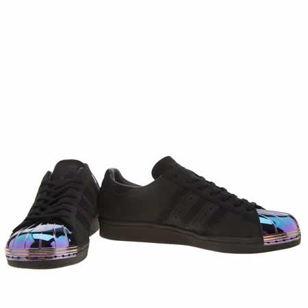 Adidas Superstar Black Metal Toe