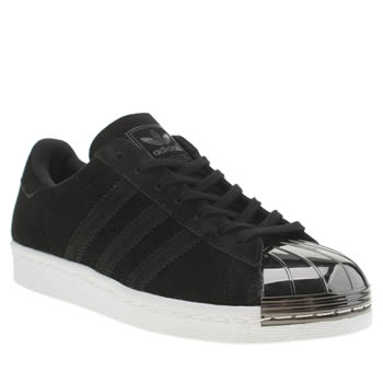 Adidas Black & White Superstar 80s Metal Toe Trainers