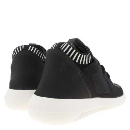 Adidas Tubular Black And White Womens