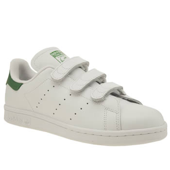 Adidas White & Green Stan Smith Comfort Trainers
