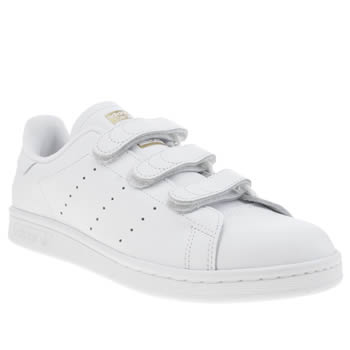 Adidas White & Gold Stan Smith Comfort Trainers