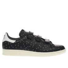 Adidas Black & White Stan Smith Comfort Dots Womens Trainers