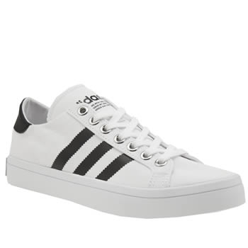 Adidas White & Black Court Vantage Womens Trainers