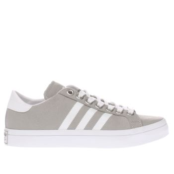 Womens Adidas Light Grey Court Vantage Trainers