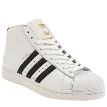 Adidas White & Black Pro Model Trainers