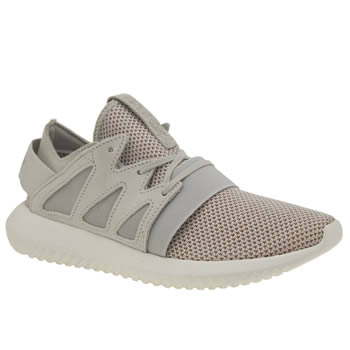 Womens Adidas Light Grey Tubular Viral Material Trainers