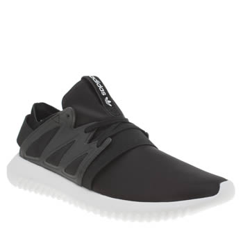 Adidas Black & White Tubular Viral Trainers
