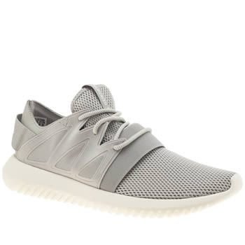 Adidas Grey Tubular Viral Trainers