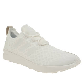 Adidas White Zx Flux Verve Trainers