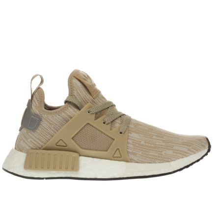 damen beige adidas nmd x r1 primeknit sneaker schuh. Black Bedroom Furniture Sets. Home Design Ideas