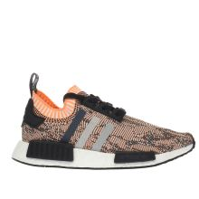 Adidas White & Orange Nmd Runner Primeknit Womens Trainers