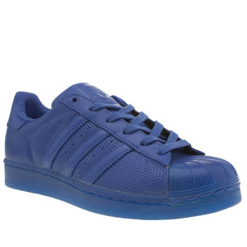 Womens Adidas Blue Adicolor Superstar So Icy Trainers