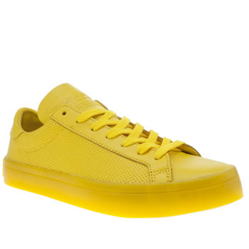 Adidas Yellow Adicolor Court Vantage Icy Trainers