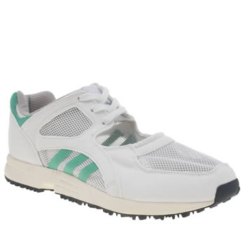 Adidas White & Green Eqt Racing Og Trainers