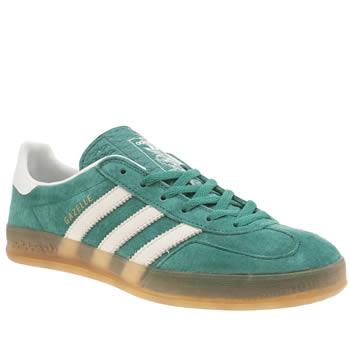 Womens Adidas Turquoise Gazelle Indoor Trainers