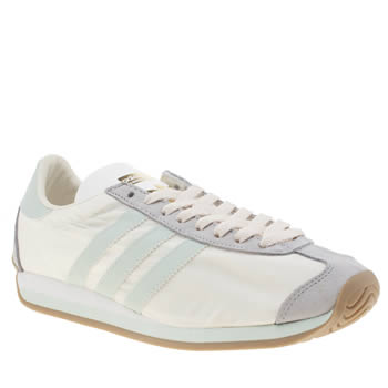 Adidas White & Pl Blue Country Og Trainers