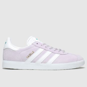 Adidas Lilac Gazelle Perforated Suede Trainers