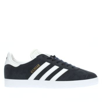 Adidas Navy & White Gazelle Suede Trainers