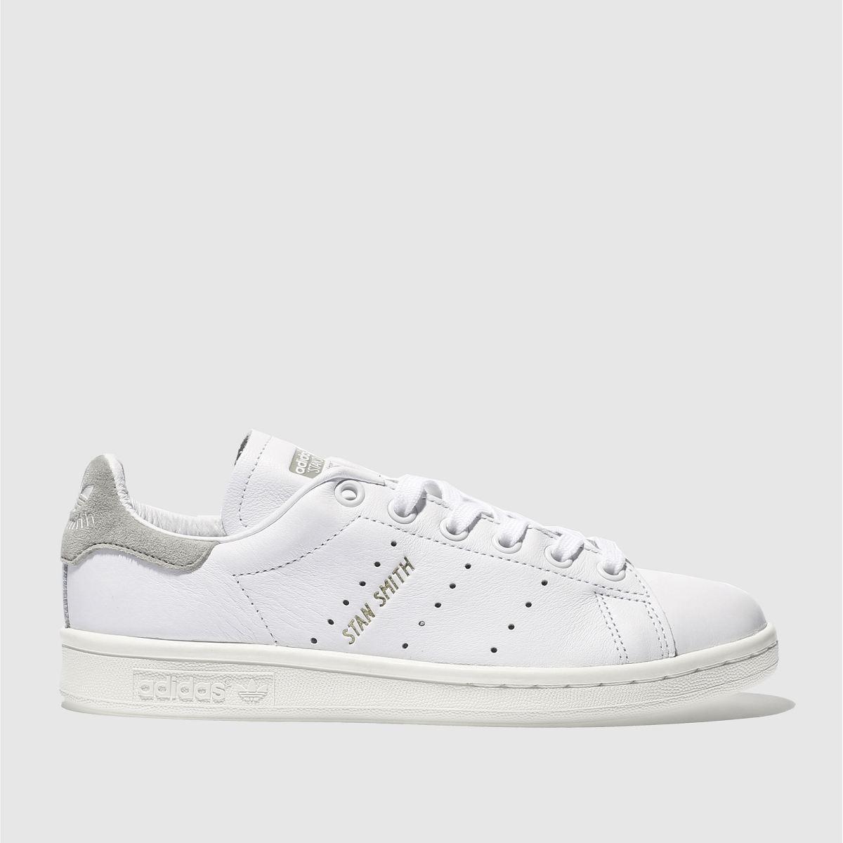 adidas white & beige stan smith trainers