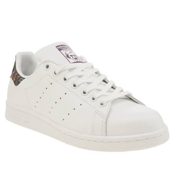 Adidas White Stan Smith Farm Print Trainers