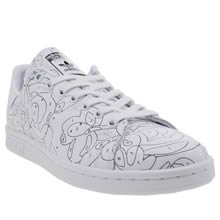 Adidas White & Black Stan Smith Rita Ora Paint Womens Trainers