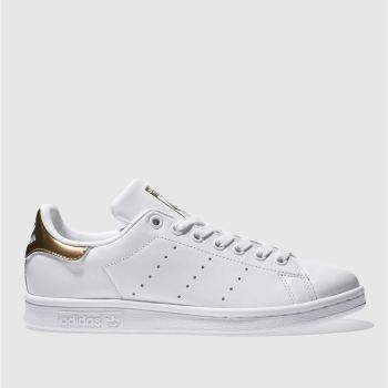 Adidas White & Gold STAN SMITH Trainers