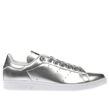 ADIDAS SILVER STAN SMITH TRAINERS
