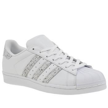 Adidas White & Beige Superstar Country Pack Womens Trainers