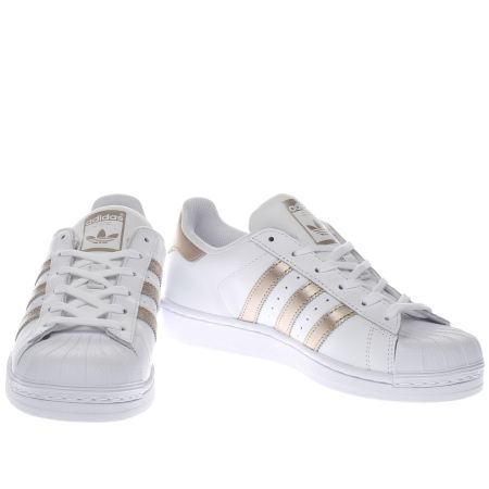 Superstar 80's Women White Rose Gold Metal Toe Beyaz SU Style