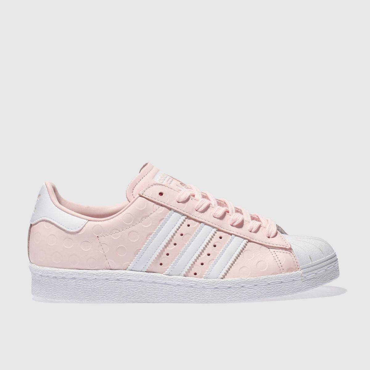 adidas pale pink superstar 80s trainers