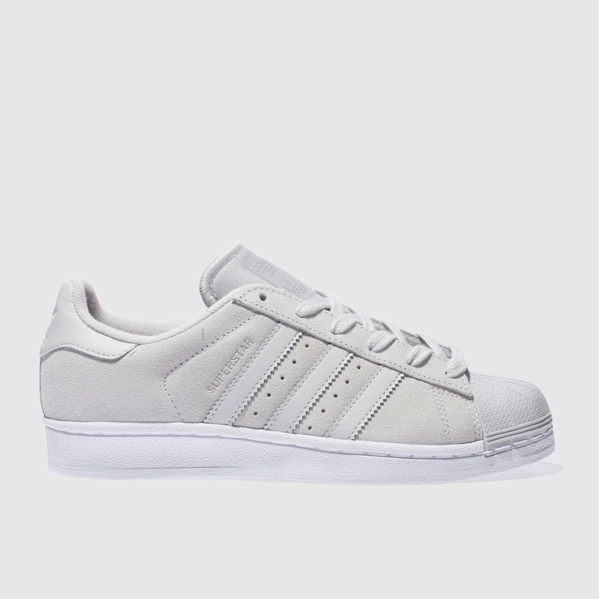 adidas light grey superstar trainers