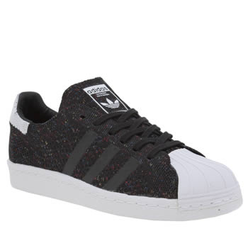 Adidas Black & White Superstar 80s Pack Primeknit Womens Trainers