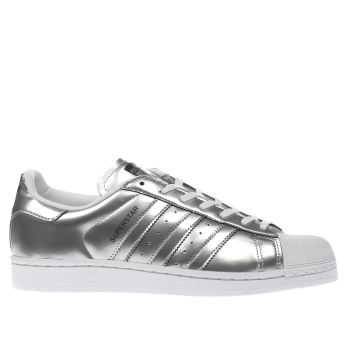 Adidas Silver Superstar Womens Trainers